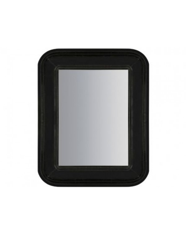 Libra Moretti Matt black  Rectangular Wooden Mirro...